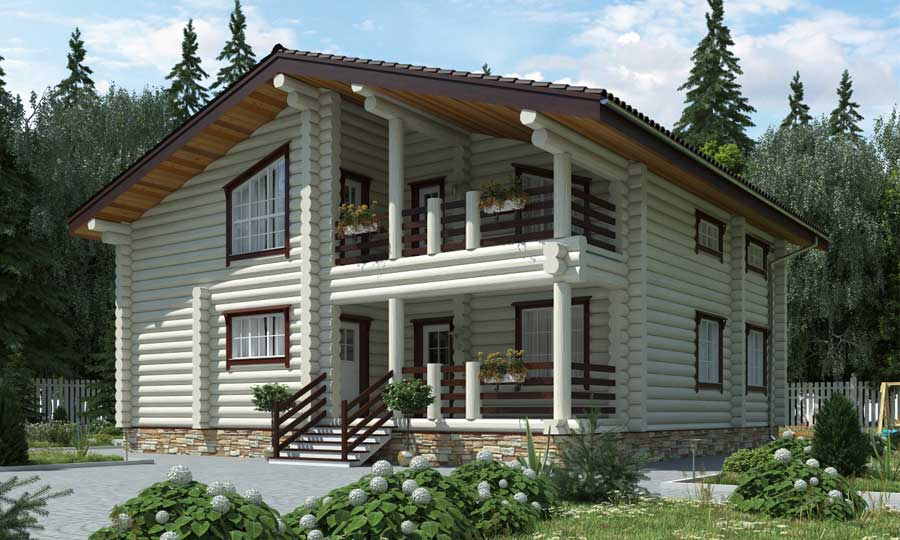 Проекты деревянных домов и коттеджей под ключ: из бруса